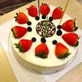 Photos: バニラシフォン まりちゃんお誕生日 chiffone cake with strawberries 広島市中区新天地 マリオデザート並木店 MARIO dessert