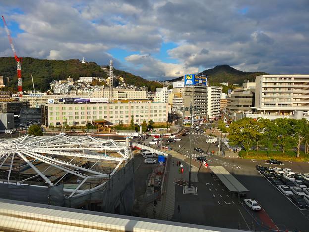 JR 広島駅 北口 新幹線口から二葉山方向 2016年1月8日 広島市東区二葉の里 - 光町 - 若草町