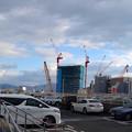 広島駅屋上駐車場から南口再開発地区方向 広島市南区松原町