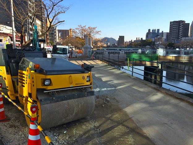 猿猴川左岸 河岸緑地の整備 広島市南区猿猴橋町 2016年2月10日