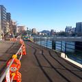 猿猴川左岸 河岸緑地の整備 広島市南区猿猴橋町 2016年3月15日