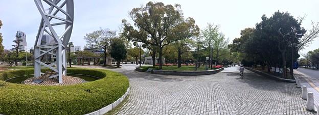 広島平和記念公園 平和の時計塔から南方向 広島市中区中島町