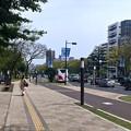 Photos: 平和大通り 白神社前バス停 G7広島外相会合 懸垂幕バナー 広島市中区小町 ANAクラウンプラザホテル広島前