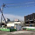 写真: 広島駅南口Bブロック 猿猴橋北詰から広島駅 2014年4月1日