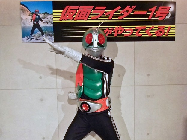 仮面ライダー1号 本郷猛 Kamen Rider 広島市中区紙屋町2丁目 サンモール 2012年6月24日