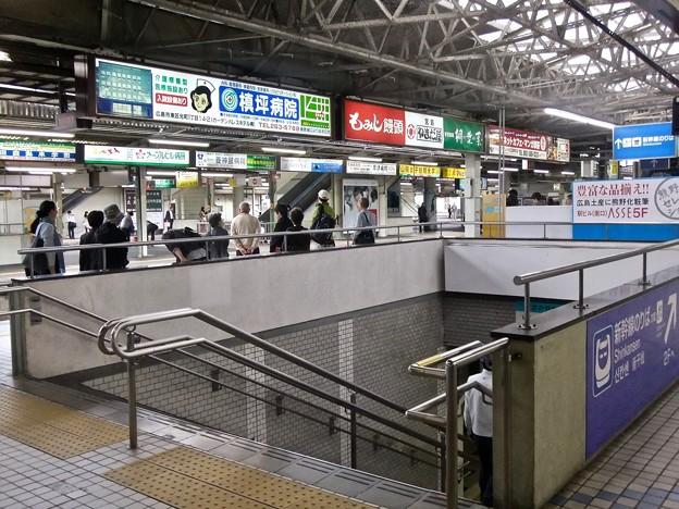 広島駅 在来線1番ホーム 階段 広島市南区松原町 2011年11月6日