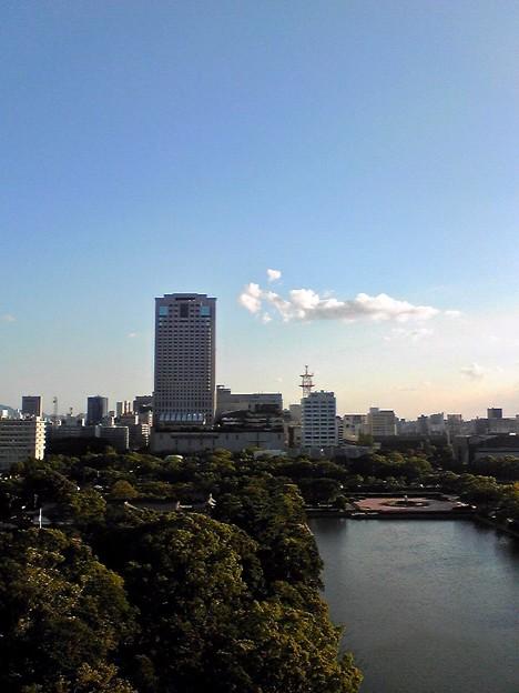 広島城 天守閣から南方向 広島市中区基町 2010年9月16日