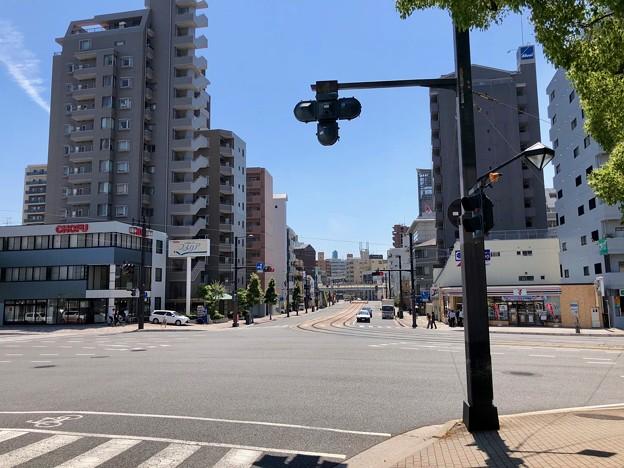 比治山通り 大正橋交差点 広島市南区段原3丁目 段原1丁目 - 的場町2丁目 2018年6月4日