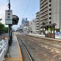 広島電鉄 皆実線 的場町電停 広島市南区的場町1丁目 比治山通り 2018年6月24日