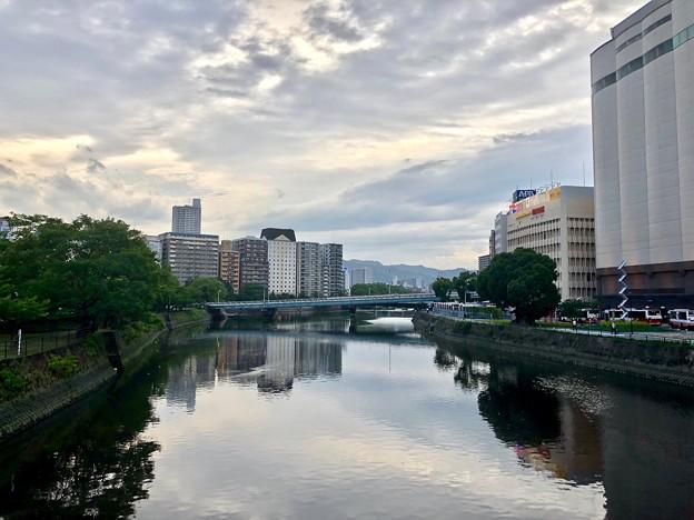 駅前大橋から駅西高架橋方向 広島市南区京橋町 - 松原町 2018年6月27日
