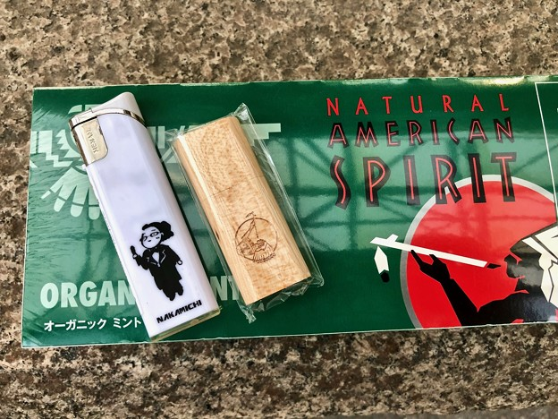Photos: Natural American Spirit ORGANIC MINT アメスピオリジナルUSBメモリー 広島市松原町 EKICITY たばこのなかみち