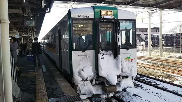 キハ110 陸羽東線 臨時快速湯けむり号 小牛田にて