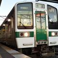 Photos: 朝日を浴びる常磐線浪江行き
