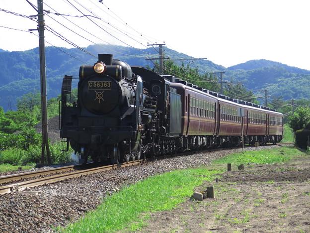 C58 363率いる12系客車たち。 @秩父鉄道秩父本線樋口駅~野...