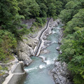 Photos: ダムの上から見た魚道