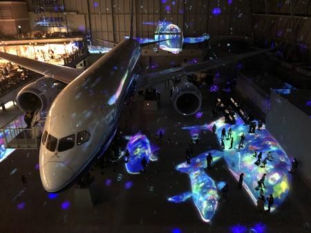 FLIGHT OF DREAMS フライト オブ ドリームズ プロジェクションマッピング 4階デッキ視点 IMG_1675
