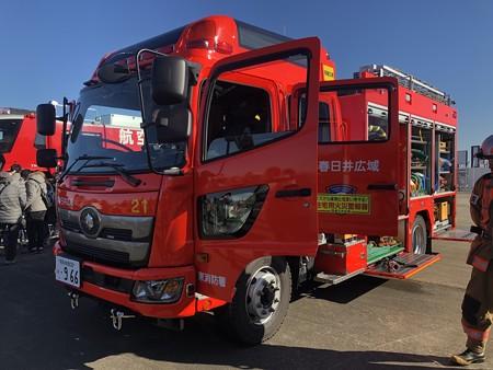 西春日井二市一町合同出初式 消防車展示 IMG_2082