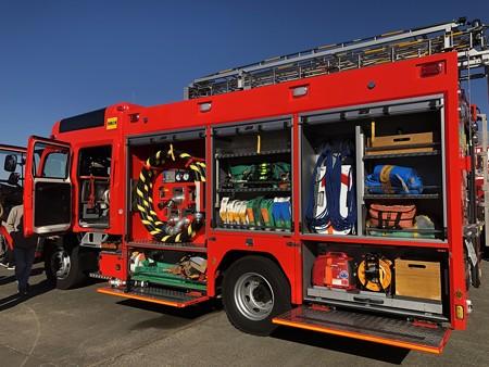西春日井二市一町合同出初式 消防車展示 IMG_2081
