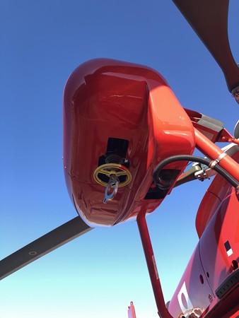 名古屋市消防局航空隊 ユーロコプターAS365N3 JA758A 要救助者吊り上げ用ホイスト IMG_2107
