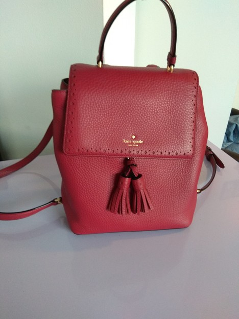 1.KATE SPADE leather backpack RED $180