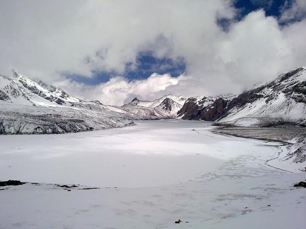 Frozen Tilicho Lake