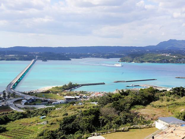 古宇利島オーシャータワーからの風景