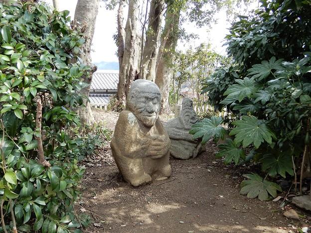 吉備姫王墓の猿石 (2)