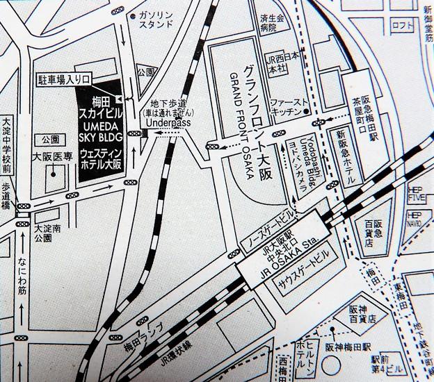 梅田スカイビル付近図