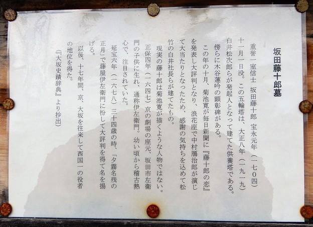 坂田藤十郎墓 (2)