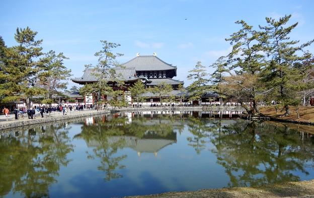 大仏殿と鏡池