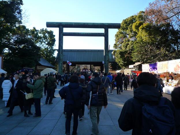 靖国神社第二鳥居と神門