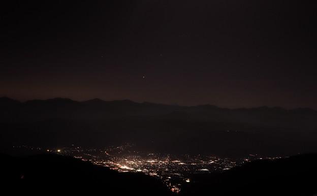 写真: 街明かり