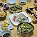 写真: 盆帰り・夜の晩餐(兄宅)