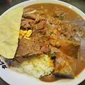 写真: 今日のお昼ご飯は、カレーライスの印度屋・京橋店の「牛ロースステ...