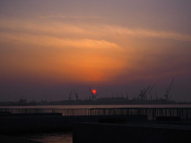 函館の夕焼け