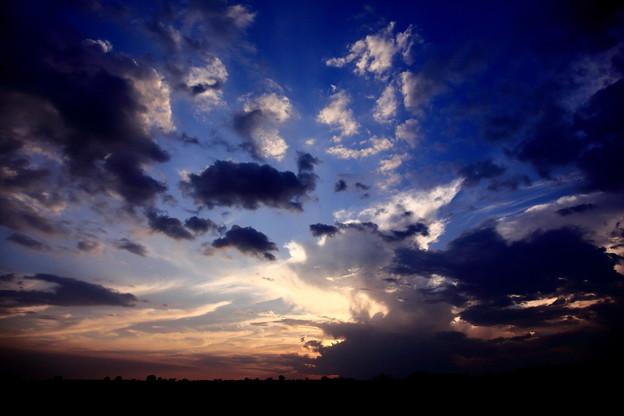 サバンナの夕焼雲