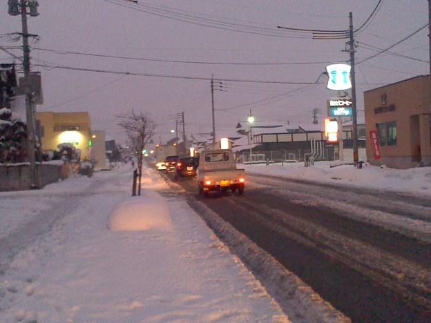 雪の小郡市内 2日目夕刻(3)