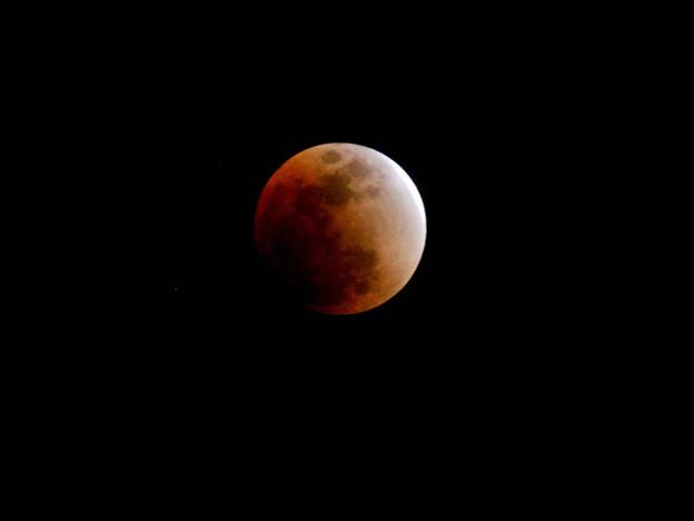 写真: 月食寸前
