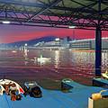 夕焼けの競艇場 (1)