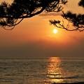 盆明けの夕陽
