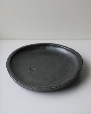 黒マット15cm丸皿s