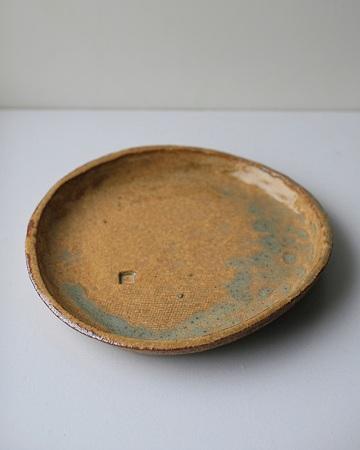 茶流紋釉15cm丸皿s