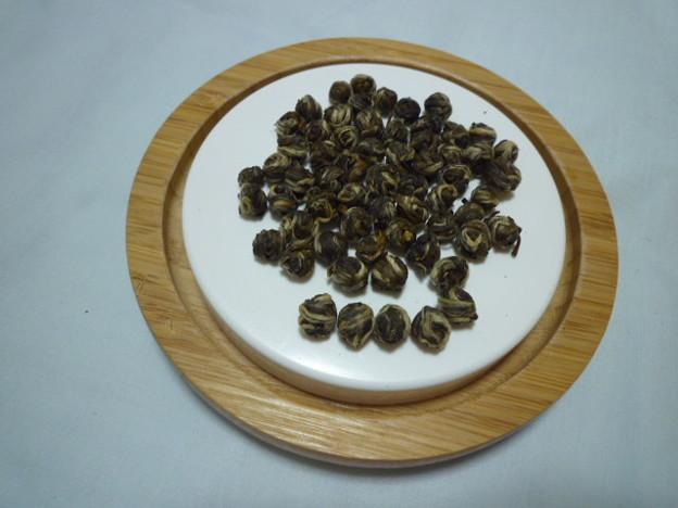 Photos: 汝が手紙よりジャスミンの香り立つ~茉莉龍球Dragon ball-shaped jasmine tea