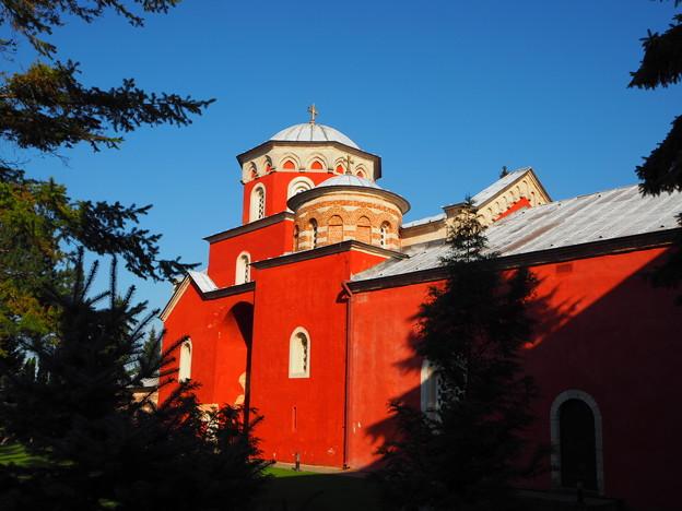 赤壁の修道院 Žiča Monastery