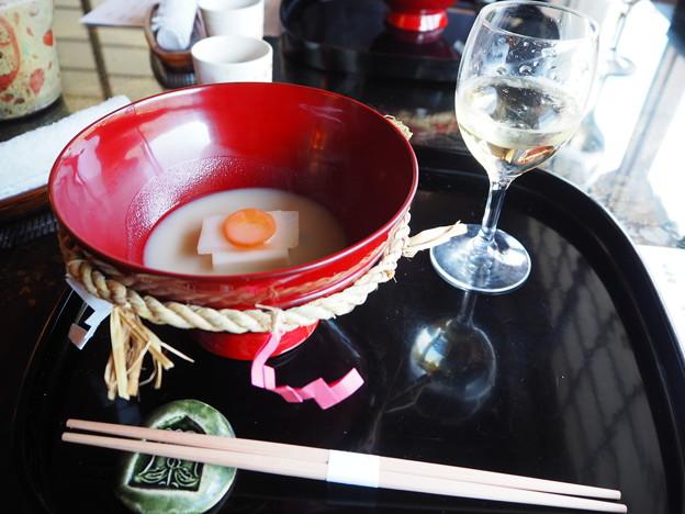 会席料理「収穫の喜び」食前酒 Japanese Cuisine at Sunaino-sato