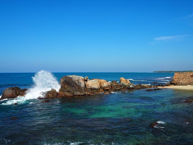 割れて砕けて裂けて散る(遙かなるインド洋) Indian Ocean from Galle Fort