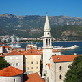 Photos: ブドヴァの旧市街とアドリア海 Panorama of Budva