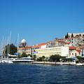 写真: シベニクの港と大聖堂 Harbor & Cathedral in Šibenik