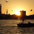 写真: ドバイの夕暮~UAE Deira from Abra on Dubai Creek