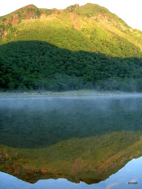 水鏡の日光白根山